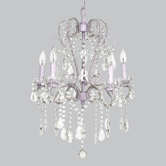 all light fixtures lavender 5 light whimsical beaded chandelier