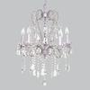 Lavender 5 Light Whimsical Beaded Chandelier
