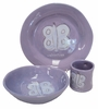 Lavender Butterfly Character Personalized Ceramic Dish Collection