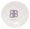 Lavender Butterfly on White Personalized Ceramic Dish Collection