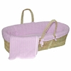 Lavender Cable Knit Moses Basket Set