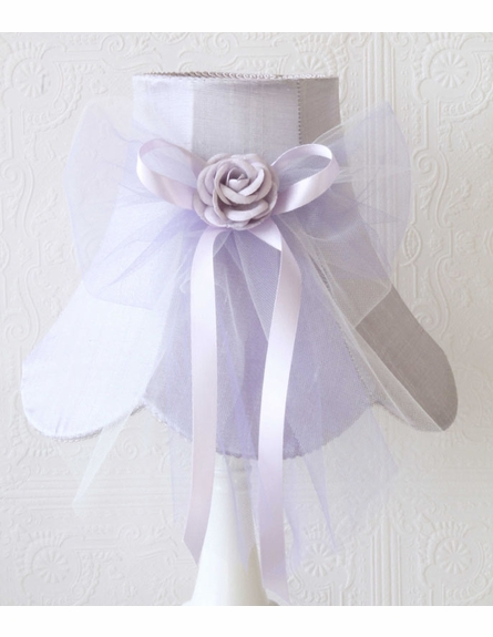 Lavender Dupioni Silk and Tulle Table Lamp