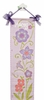 Lavender Flower Hand Painted Canvas Growth Chart