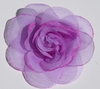 Lavender Glitter Rose Blooming Fabric Flower