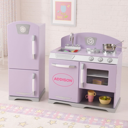 Lavender Retro Kitchen and Refrigerator