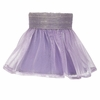 Lavender Ruffled Sheer Chandelier Shade