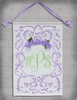 Lavender Shabby Rose Hand Painted Wall Hanging