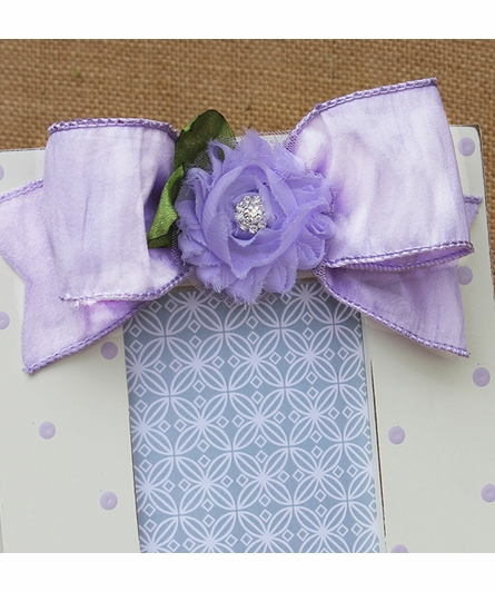 Lavender Simple Dot Flower Picture Frame