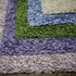 Lavender Stripes Shaggy Raggy Rug