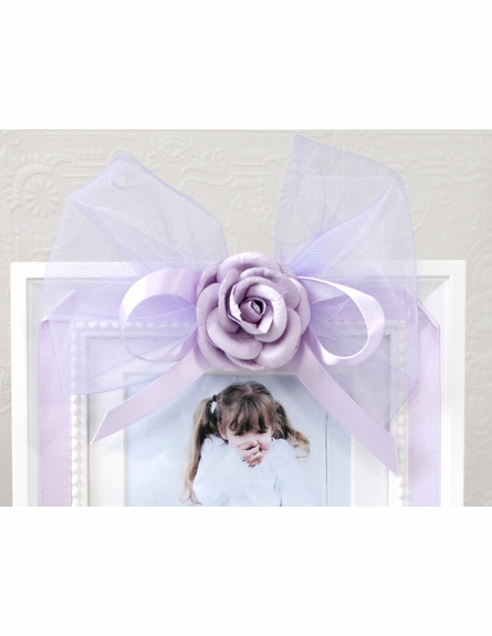 Lavender Tulle Bow Picture Frame