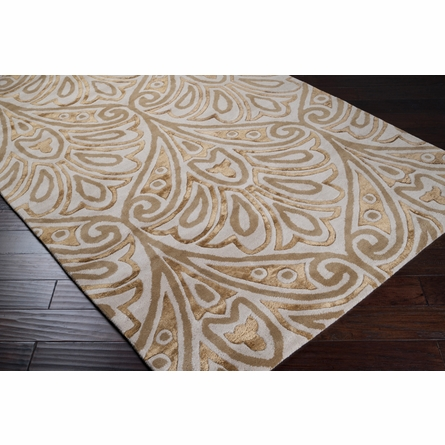 Lavish Cream Moderne Rug