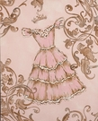 Lavish Dress Hand Painted Art