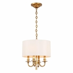 Lawson Aged Brass Four Light Mini Chandelier