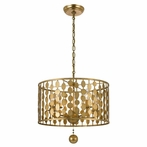 Layla Five Light Antique Gold Chandelier