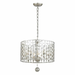 Layla Five Light Antique Silver Chandelier