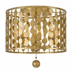 Layla Three Light Antique Gold Ceiling Mount