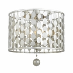 Layla Three Light Antique Silver Ceiling Mount