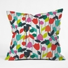 Lazy Day Floral Throw Pillow