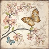 Le Jardin Butterfly II Wall Art