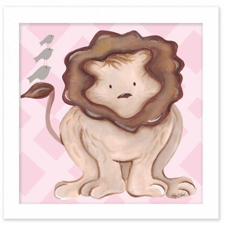 Leah Lion in Pink Canvas Reproduction