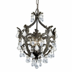 Legacy Five Light Clear Crystal Bronze Mini Chandelier