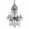 Legacy Four Light Clear Crystal Bronze Mini Chandelier