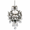 Legacy Three Light Clear Crystal Bronze Mini Chandelier
