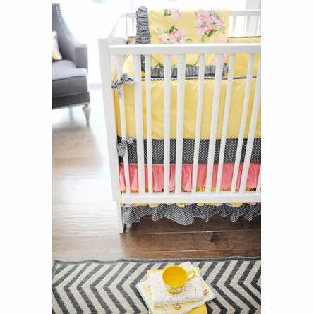 Lemon Drop Crib Bedding Set