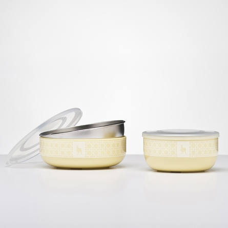 Lemon Zest Stainless Steel Dishware Set