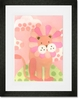 Leo Lion - Pink Framed Art Print