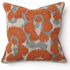 Leopard Print Orange Throw Pillow