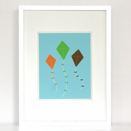 Let's Go Fly A Kite Art Print