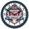 Let's Play Ball Baseball Kids Wall Clock