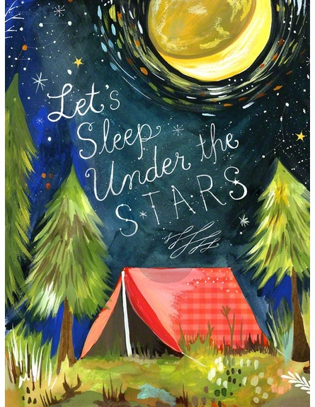 Let's Sleep Under the Stars Canvas Wall Art
