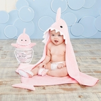 Let The Fin Begin 4-Piece Bathtime Gift Set in Pink