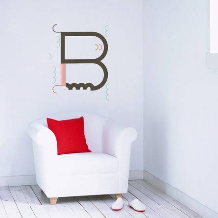 Letter B Wall Decal