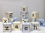 Letter Blocks in Blue