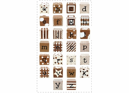 Letter Blocks in Chocolate