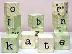 Letter Blocks in Green