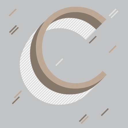 Letter C Wall Decal