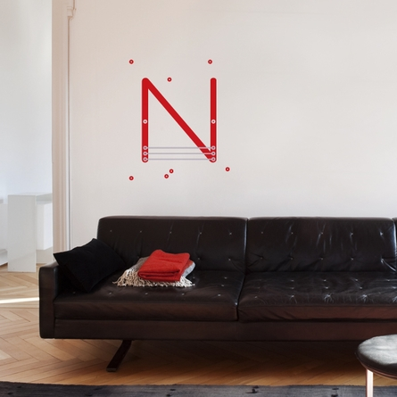 Letter N Wall Decal
