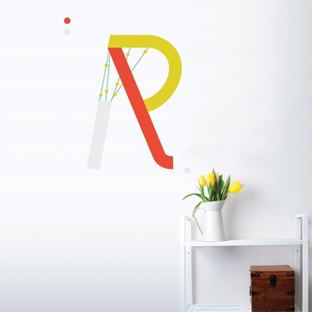 Letter R Wall Decal