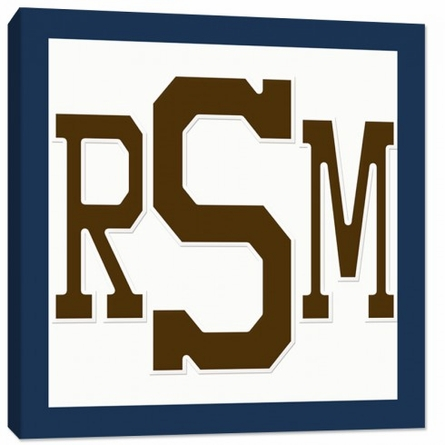 Letterman Monogram Canvas Reproduction