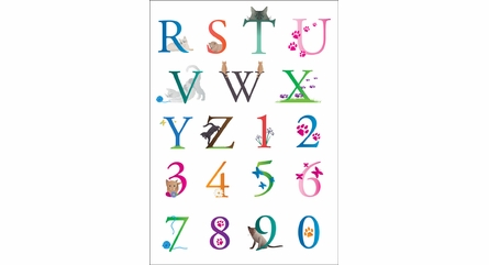 Letters and Cats Wall Decals
