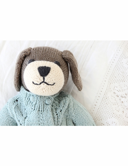 Liam Dog Hand-Knit Organic Stuffed Toy