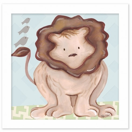 Liam Lion in Blue Canvas Reproduction