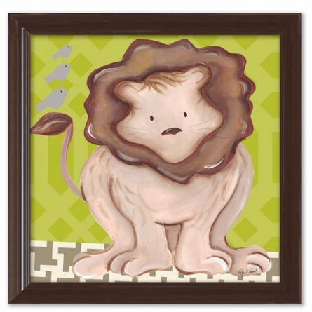 Liam Lion in Green Canvas Reproduction