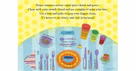 Libby Ellis Placemats - Manners Matter - Set Of Four