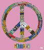 License Plate Peace in Pink Canvas Wall Art