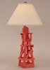 Life Guard Chair Table Lamp in Cottage Classic Red